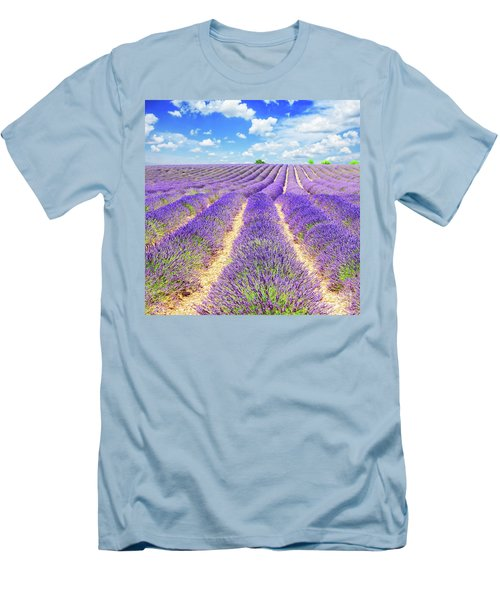 Summer In Provence Men's T-Shirt (Slim Fit) by Anastasy Yarmolovich