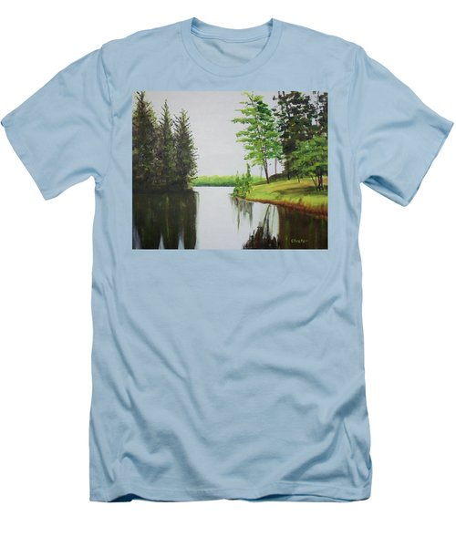 Summer Lake Men's T-Shirt (Athletic Fit)