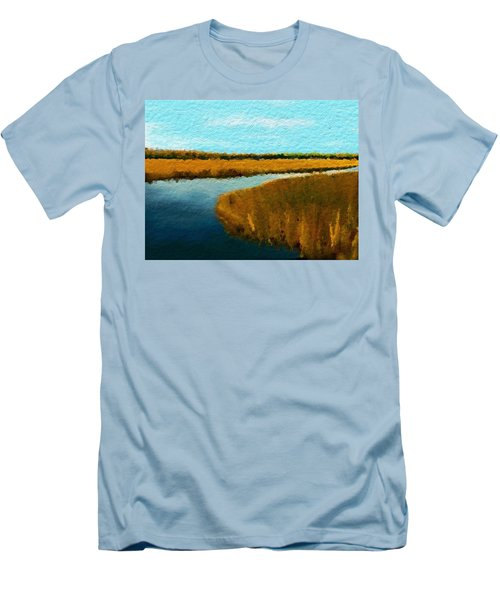 Summer Marsh South Carolina Lowcountry Men's T-Shirt (Slim Fit) by Anthony Fishburne