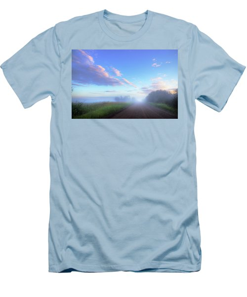 Summer Morning In Alberta Men's T-Shirt (Slim Fit) by Dan Jurak