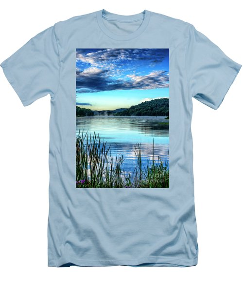Summer Morning On The Lake Men's T-Shirt (Slim Fit) by Thomas R Fletcher