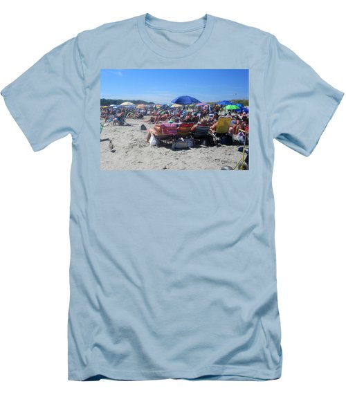 Sunday At The Beach Men's T-Shirt (Slim Fit) by Paul Meinerth