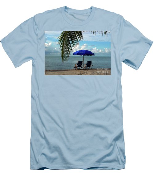 Sunday Morning At The Beach In Key West Men's T-Shirt (Athletic Fit)