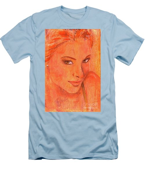 Men's T-Shirt (Slim Fit) featuring the painting Sunday by P J Lewis