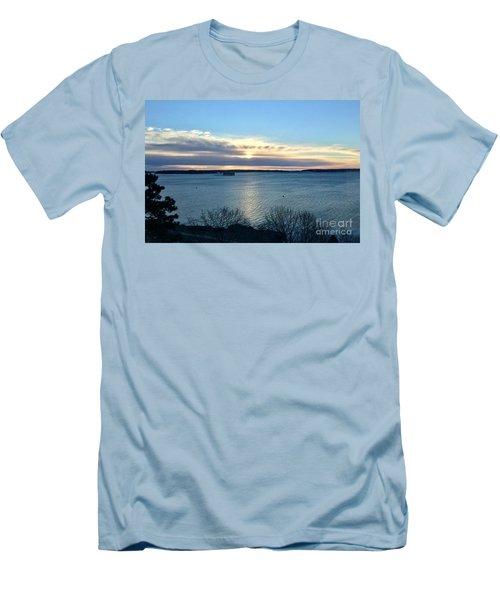 Sunday Sunrise On Casco Bay Men's T-Shirt (Athletic Fit)