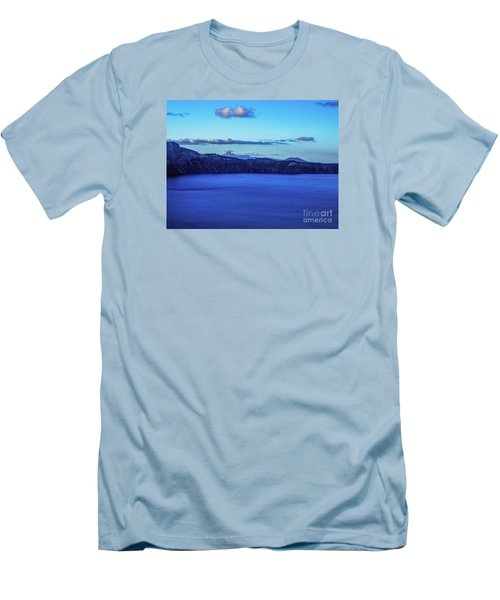 Sundown At Crater Lake Men's T-Shirt (Slim Fit) by Nancy Marie Ricketts