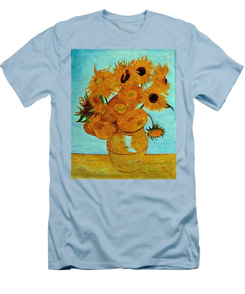Sunflowers Men's T-Shirt (Slim Fit) by Henryk Gorecki