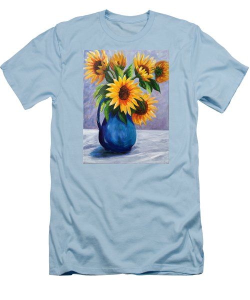 Sunflowers In Bloom Men's T-Shirt (Athletic Fit)