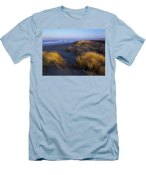 Sunlight On The Beach Grass Men's T-Shirt (Athletic Fit)
