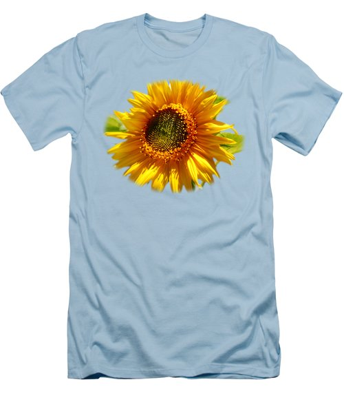 Men's T-Shirt (Athletic Fit) featuring the photograph Sunny Sunflower by Christina Rollo
