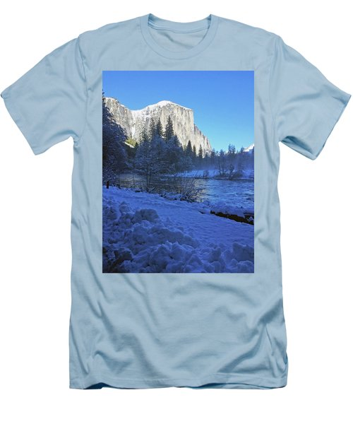 Men's T-Shirt (Athletic Fit) featuring the photograph Sunny Winter Day 01 13 17 by Walter Fahmy