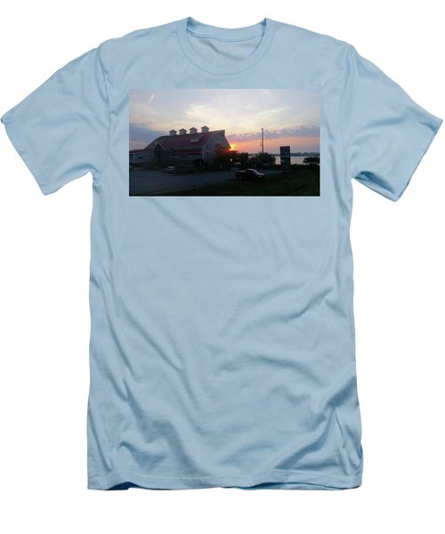 Sunrise At Hooper's Crab House Men's T-Shirt (Slim Fit) by Robert Banach