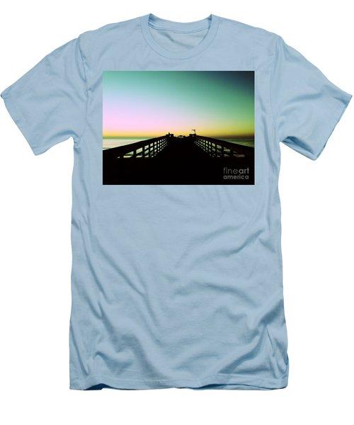 Sunrise At The Myrtle Beach State Park Pier In South Carolina Us Men's T-Shirt (Slim Fit) by Vizual Studio