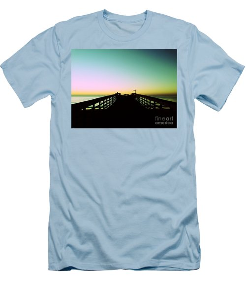 Sunrise At The Myrtle Beach State Park Pier In South Carolina Us Men's T-Shirt (Athletic Fit)