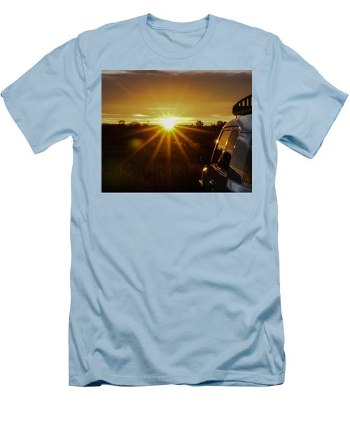 Sunrise And My Ride Men's T-Shirt (Slim Fit) by Jeremy McKay
