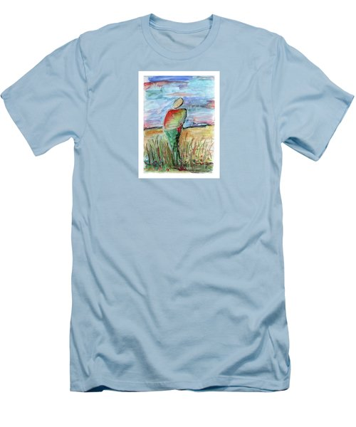 Sunrise In The Grasses Men's T-Shirt (Athletic Fit)