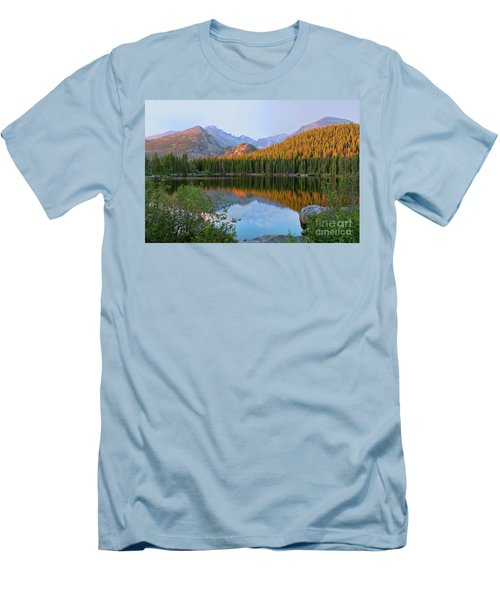 Men's T-Shirt (Slim Fit) featuring the photograph Sunrise On Bear Lake Rocky Mtns by Teri Atkins Brown
