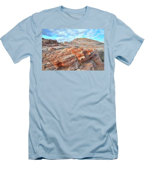 Sunrise On Sandstone In Valley Of Fire Men's T-Shirt (Slim Fit) by Ray Mathis