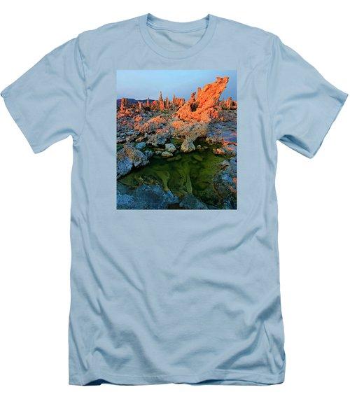 Sunrise On Tufa 2 Men's T-Shirt (Slim Fit) by Sean Sarsfield