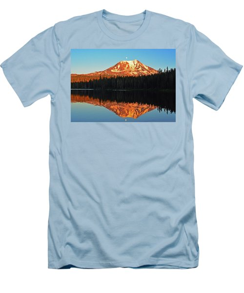 Men's T-Shirt (Slim Fit) featuring the photograph Sunset And Sunrise Mt Adams by Jack Moskovita