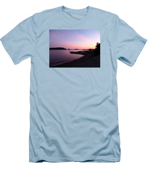 Sunset At Five Islands Men's T-Shirt (Athletic Fit)