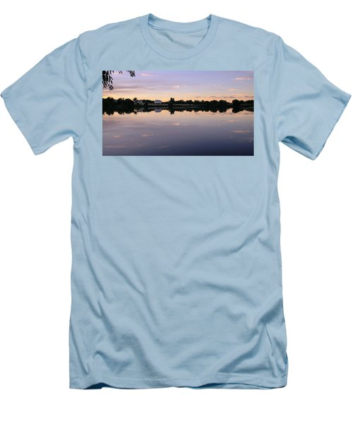 Men's T-Shirt (Athletic Fit) featuring the photograph Sunset At The Farmhouse by Monte Stevens