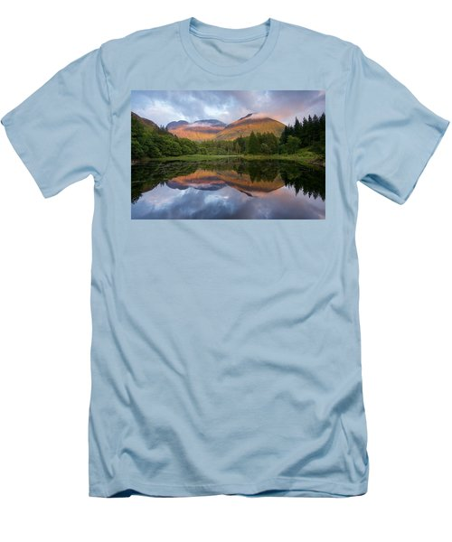 Sunset At Torren Lochan Men's T-Shirt (Athletic Fit)