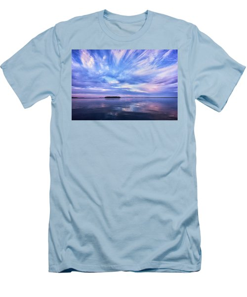 Sunset Awe  Signed Men's T-Shirt (Athletic Fit)