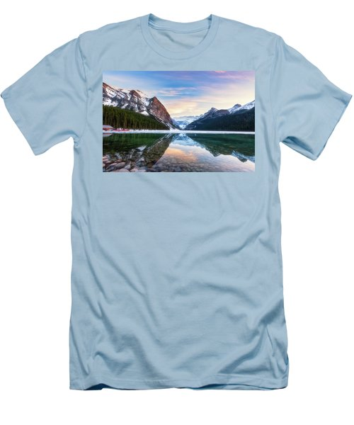 Sunset Lake Louise Men's T-Shirt (Athletic Fit)