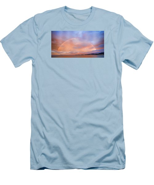 Men's T-Shirt (Athletic Fit) featuring the photograph Sunset Rainbow by Steve Siri