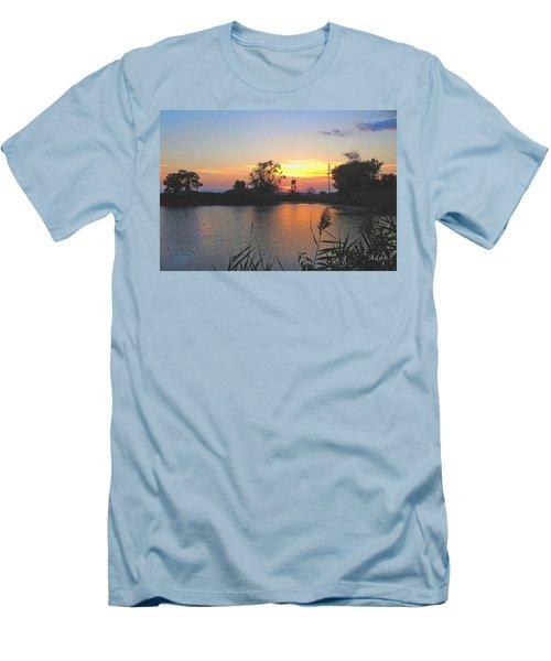 Sunset West Of Myer's Bagels Men's T-Shirt (Slim Fit) by Felipe Adan Lerma
