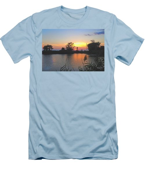 Sunset West Of Myer's Bagels Men's T-Shirt (Athletic Fit)