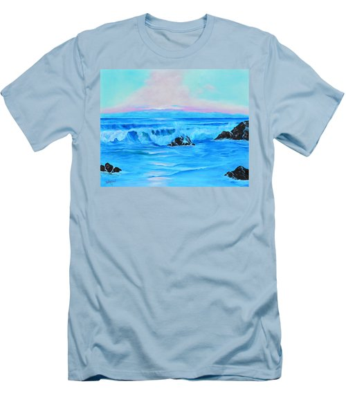 Surf At Sunset  Men's T-Shirt (Slim Fit) by Lloyd Dobson