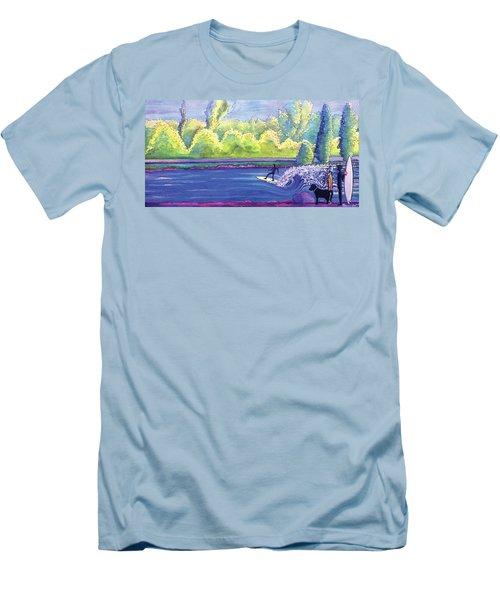 Surf Colorado Men's T-Shirt (Slim Fit) by David Sockrider