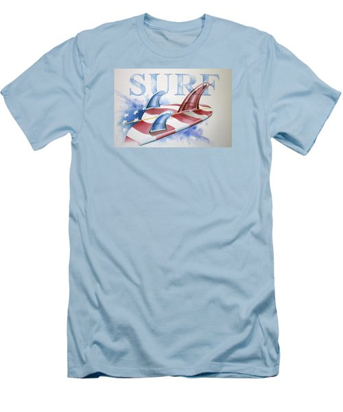 Surf Usa Men's T-Shirt (Athletic Fit)