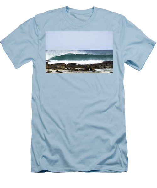 Men's T-Shirt (Athletic Fit) featuring the photograph Surfers Point by Angela DeFrias