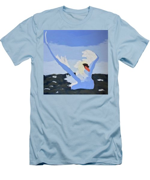 Men's T-Shirt (Athletic Fit) featuring the painting Swan by Donald J Ryker III
