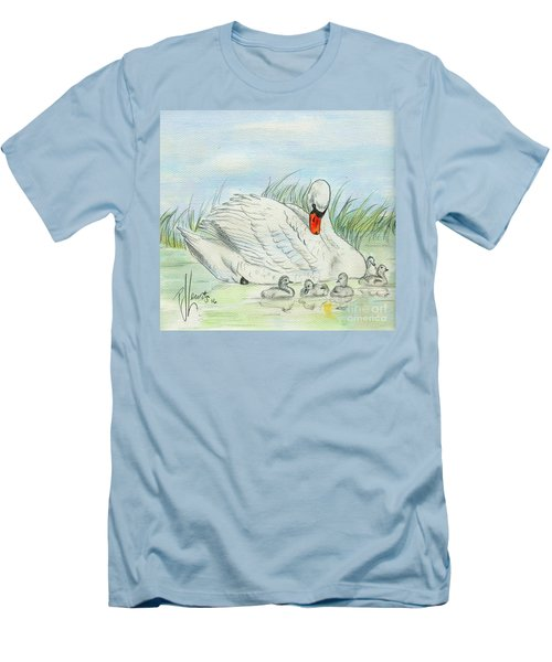 Swan Song Men's T-Shirt (Slim Fit) by P J Lewis