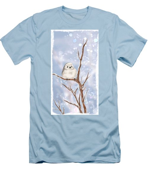 Men's T-Shirt (Slim Fit) featuring the painting Sweet Cold by Veronica Minozzi