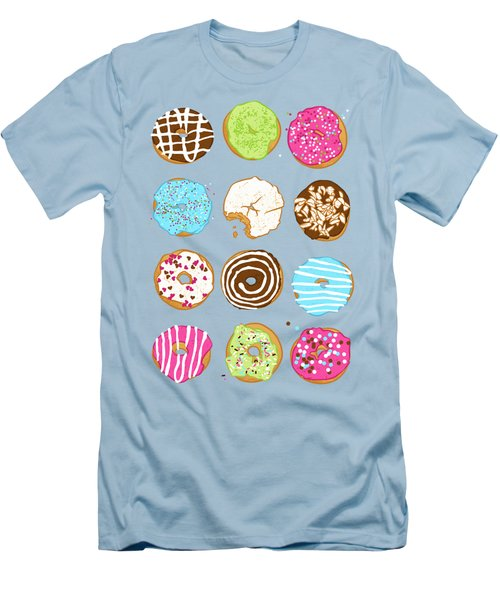 Sweet Donuts Men's T-Shirt (Slim Fit) by Evgenia Chuvardina