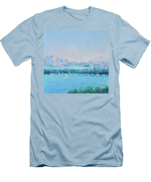 Sydney Harbour And The Opera House Men's T-Shirt (Slim Fit) by Jan Matson