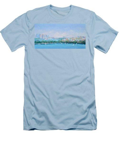 Sydney Harbour Bridge - Sydney Opera House - Sydney Harbour Men's T-Shirt (Athletic Fit)