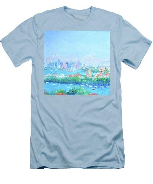 Sydney Harbour Impression Men's T-Shirt (Athletic Fit)