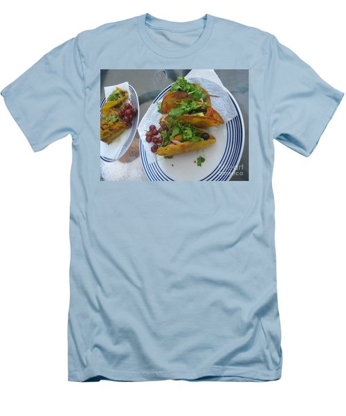 Men's T-Shirt (Athletic Fit) featuring the photograph Tacos Almost Mirrored by Marie Neder