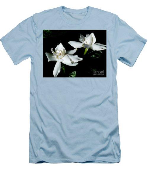 Tahitian Gardenia Men's T-Shirt (Slim Fit) by Amar Sheow