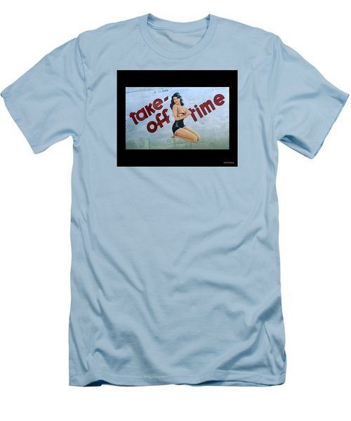 Take-off Time Men's T-Shirt (Slim Fit) by Kathy Barney