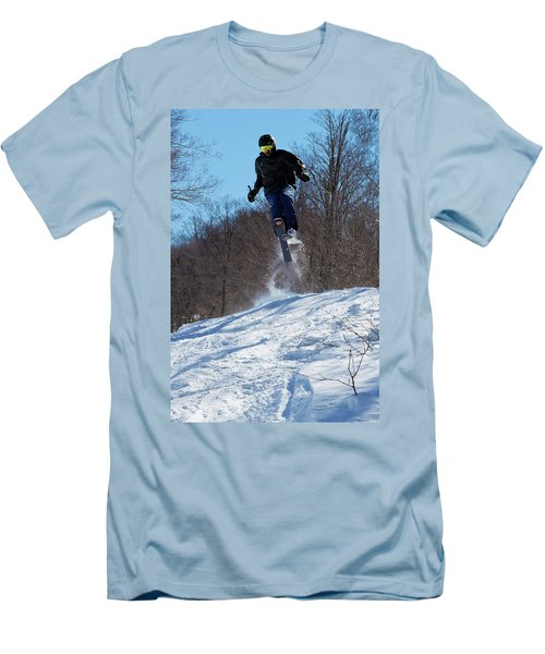 Men's T-Shirt (Slim Fit) featuring the photograph Taking Air On Mccauley Mountain by David Patterson