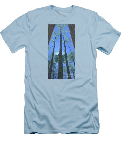 Tall Blue Ridge Beauty Men's T-Shirt (Slim Fit) by Anne Marie Brown