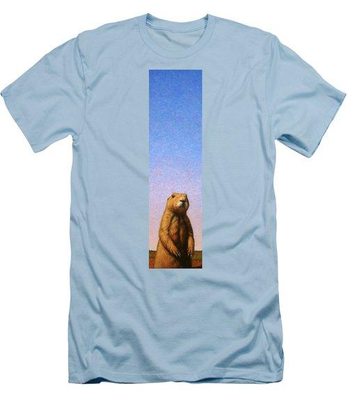 Tall Prairie Dog Men's T-Shirt (Slim Fit) by James W Johnson
