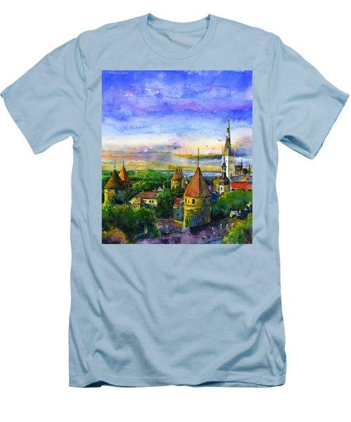 Tallinn Estonia Men's T-Shirt (Athletic Fit)